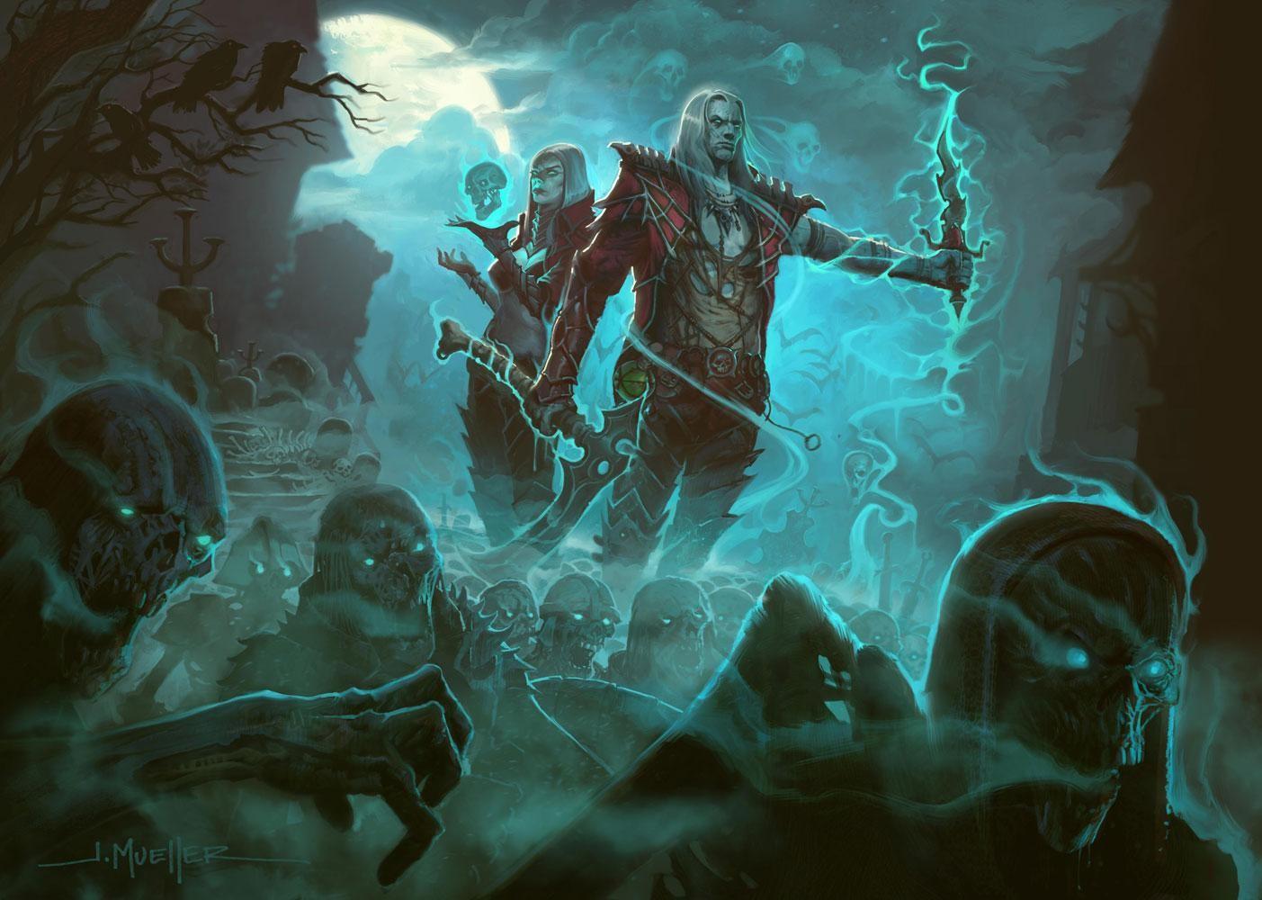 Diablo 3 - геймплейный ролик за Некроманта